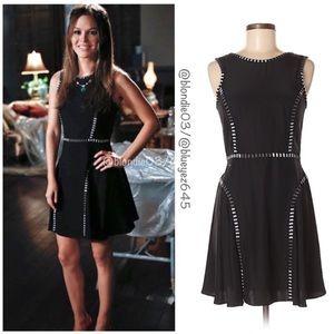 Parker Black Silk Dress XS